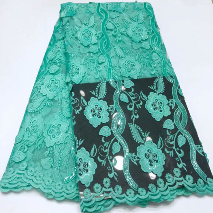 african lace fabric in tulled net lace fabric in 5 yards