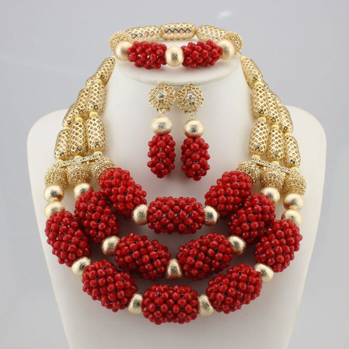 High quality handmade african Wedding Jewelry necklace set