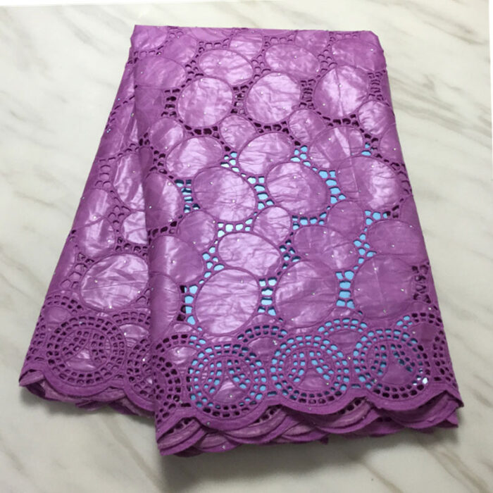 African Bazin Riche Fabric 5 yards plus 2 yards lace