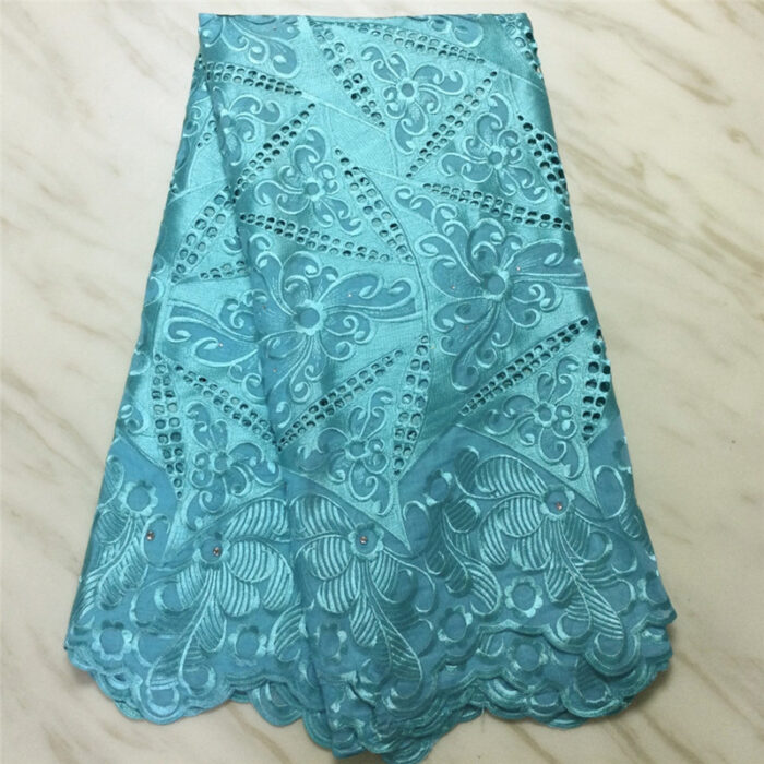 Heavy one african swiss voile lace cotton material 5 yards for bridal