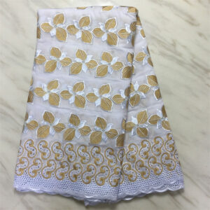 High quality cotton material in swiss voile lace fabric