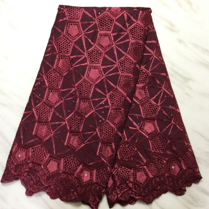 5 yards/lot swiss voile lace fabric in cotton material