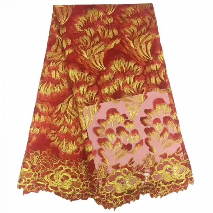 Afrian style lace fabric for sewing