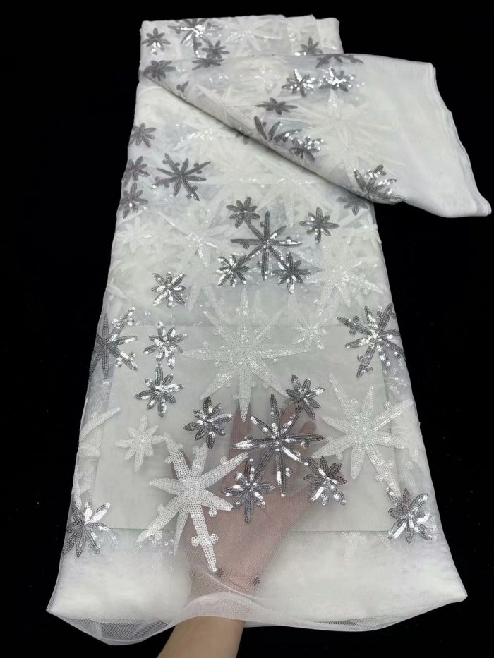 5 yards sequins lace fabric