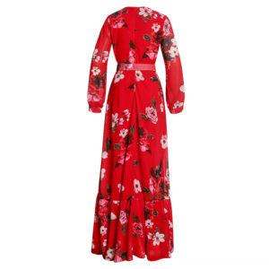 African dress digital print material for women long dress