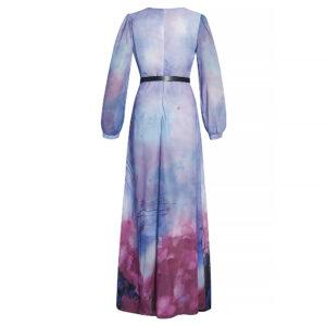 women long dress in chiffon material