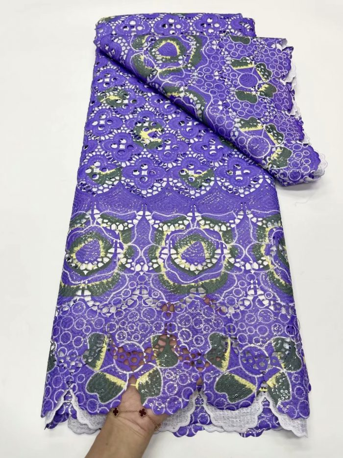 African cord lace fabric