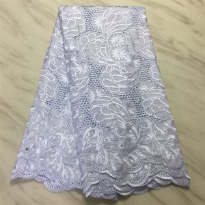 Swiss voile lace cotton material