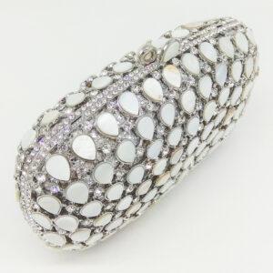 Luxury crystal evening clutch