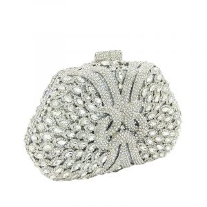 Crystal party clutch bag