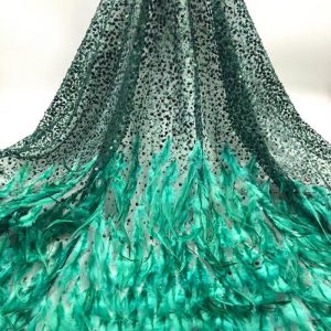 3D flower lace fabric